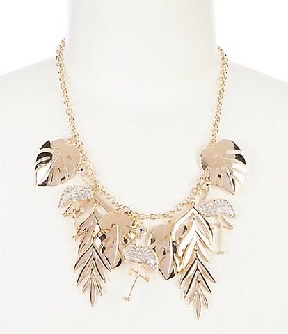 Natasha Accessories Flamingo Statement Necklace