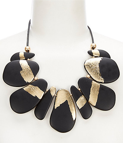 Natasha Accessories Gold Foil Collar Necklace