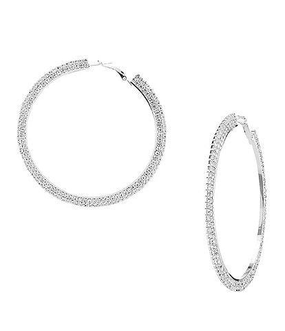 Natasha Accessories Large Hoop Earrings