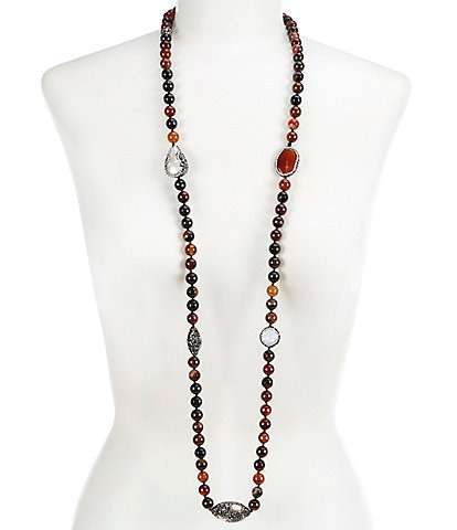 Natasha Accessories Long Strand Necklace