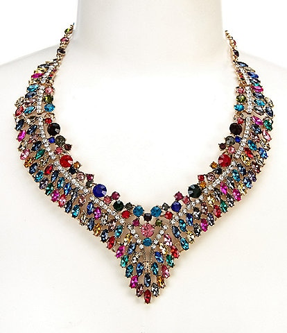 Natasha Accessories Rhinestone Collar Necklace