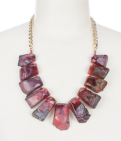 Natasha Agate Statement Necklace