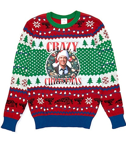 National Lampoon's Christmas Vacation™ Long-Sleeve Griswold Crazy Christmas Sweater