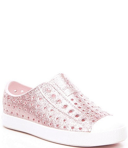 Native Girls' Jefferson Bling Glitter Slip-On Sneakers Youth