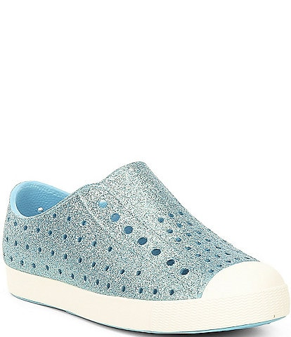 Native Girls' Jefferson Bling Perforated Slip On Sneakers Toddler