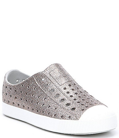 Native Girls' Jefferson Bling Slip-On Sneakers