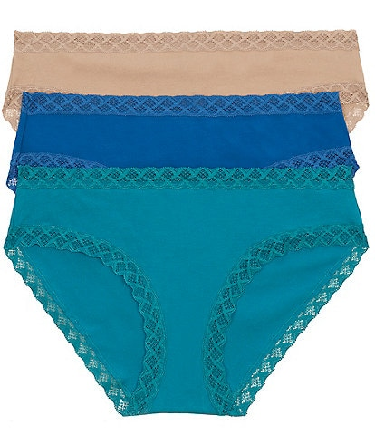 Natori Bliss Girl Lace Trim Brief Panty 3-Pack