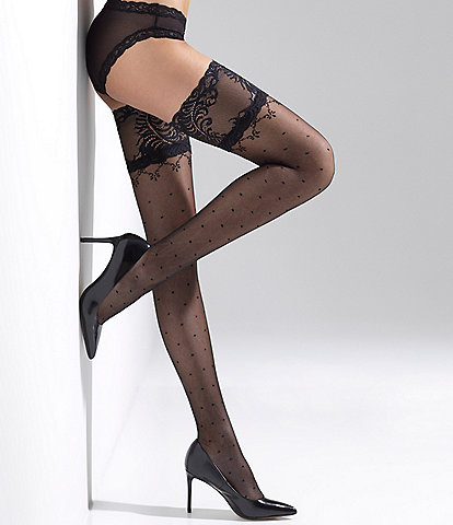 Natori Diamond Dot Thigh Highs