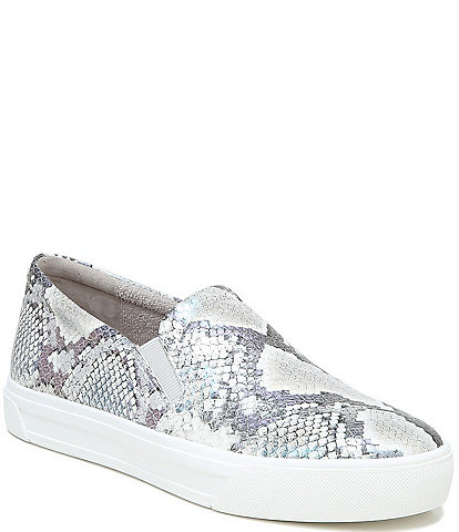 Naturalizer Aileen Snake Print Leather Slip-On Sneakers