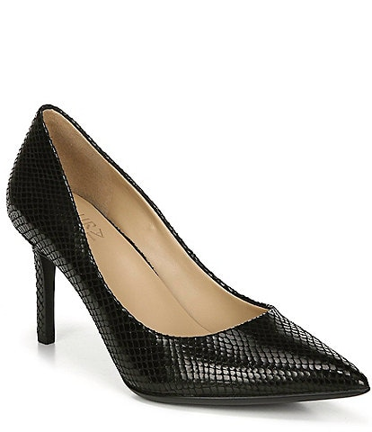 Naturalizer Anna Snake Print Fabric Pumps