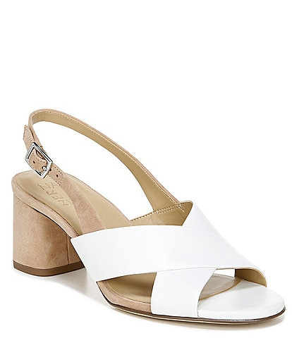 Naturalizer Azalea Leather and Suede Slingback Sandals