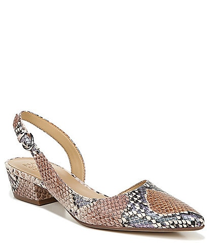 Naturalizer Banks Snake Print Leather Dress Pumps