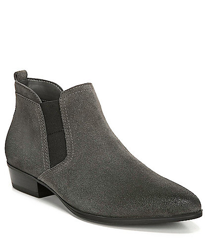 Naturalizer Becka Suede Block Heel Ankle Booties