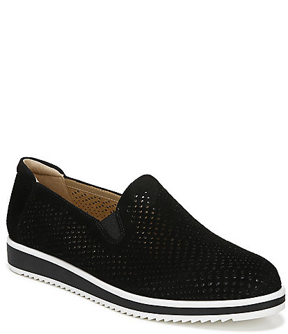 Naturalizer Bonnie Perforated Suede Slip Ons