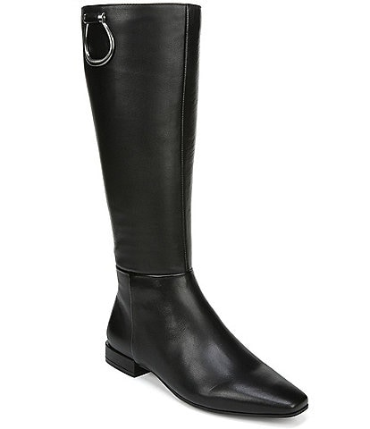 Naturalizer Carella Leather Block Heel Riding Boots