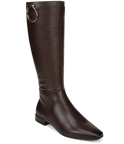 Naturalizer Carella Leather Tall Block Heel Riding Boots