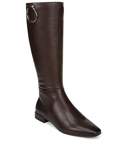 Naturalizer Carella Wide Calf Leather Tall Riding Boots