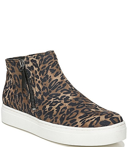 Naturalizer Celeste Cheetah Print Side Zip Sneakers