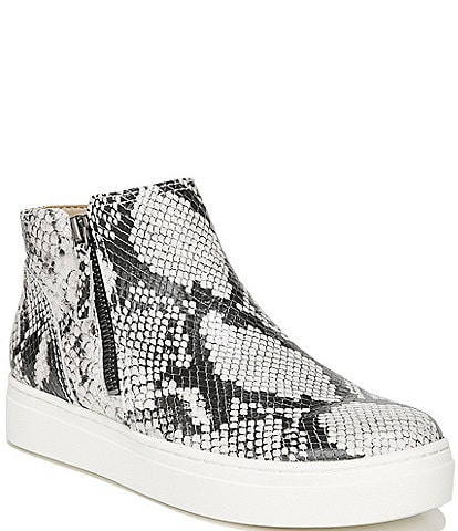 Naturalizer Celeste Snake Print Leather Side Zip Shooties