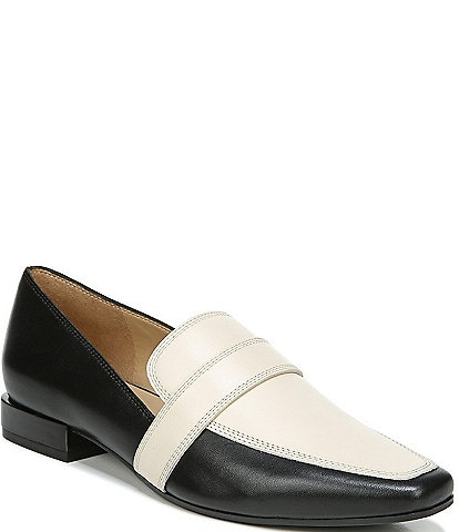 Naturalizer Cicero Leather Metallic Heel Loafers