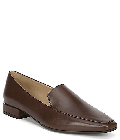 Naturalizer Clea Leather Block Heel Loafers