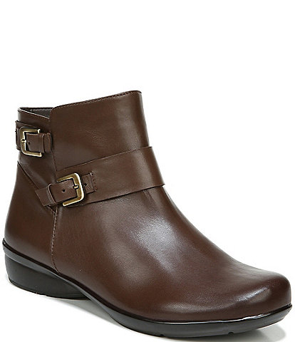 Naturalizer Cole Buckle Detail Leather Booties
