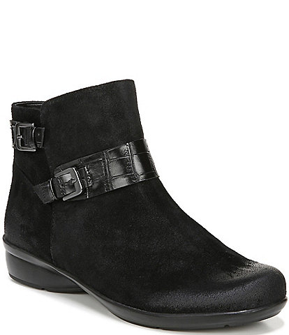 Naturalizer Cole Suede Buckle Detail Ankle Booties