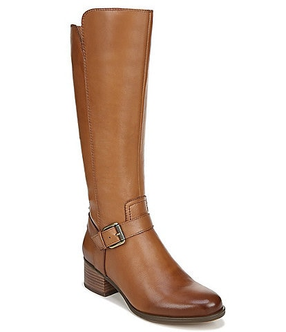 Naturalizer Dalton Wide Calf Leather Tall Block Heel Boots