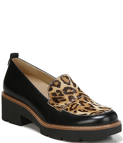 Naturalizer Darry2 Leather And Cheetah Print Loafers