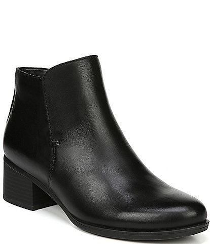 Naturalizer Deena Leather Waterproof Block Heel Booties
