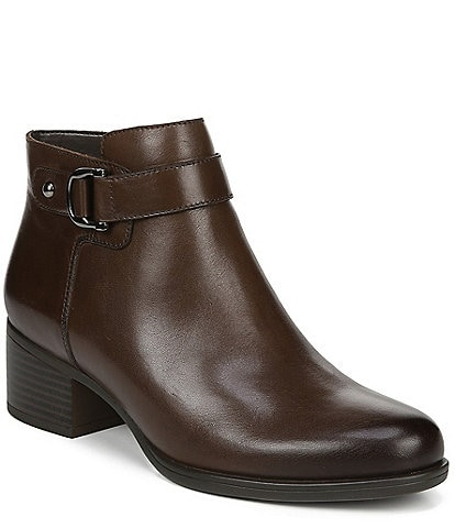 Naturalizer Drewe Leather Block Heel Booties