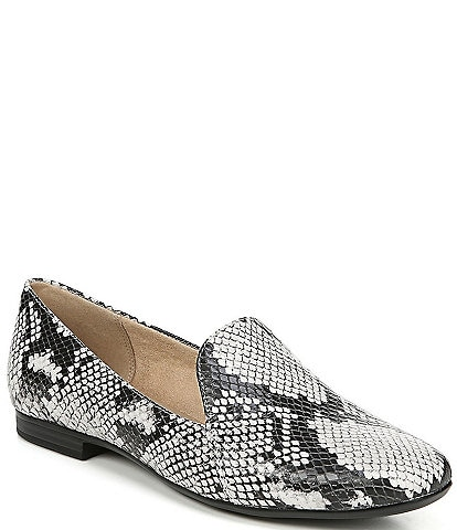 Naturalizer Emiline Snake Print Leather Flats