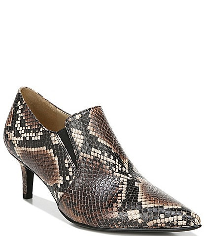 Naturalizer Evan Snake Print Leather Ankle Shooties