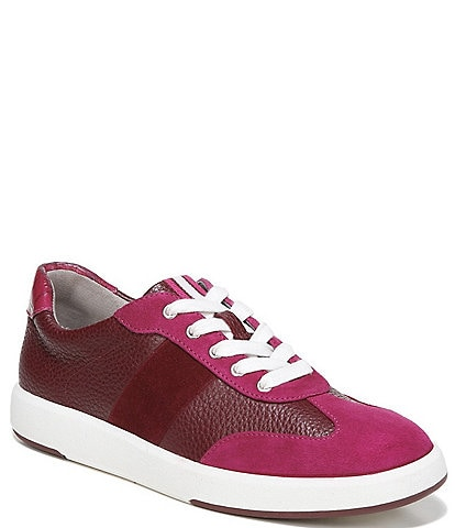Naturalizer Evin-Lace Leather Suede Lace-Up Sneakers