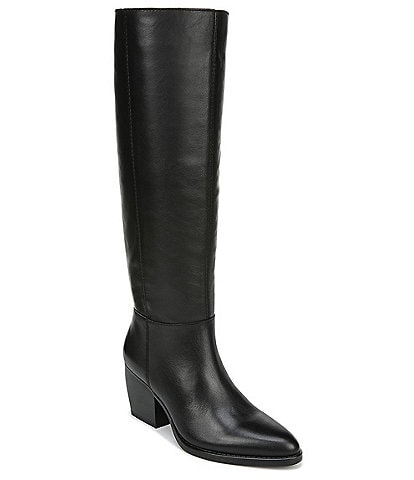 Naturalizer Fae Slouch Tall Leather Block Heel Boots