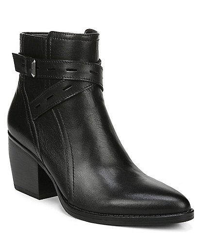 Naturalizer Fenya Leather Western Block Heel Booties