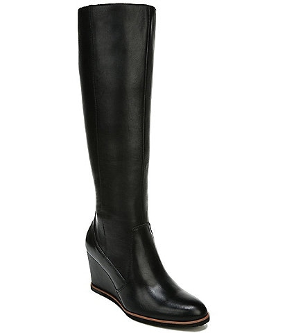 Naturalizer Gemini Leather Tall Shaft Wedge Boots