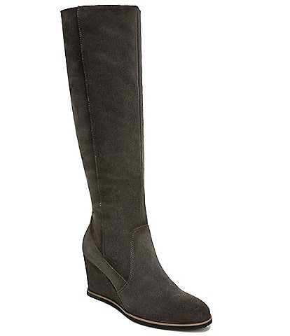 Naturalizer Gemini Suede Tall Shaft Wedge Boots