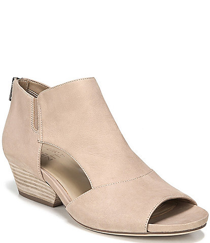 Naturalizer Greyson Peep-Toe Block Heel Shooties
