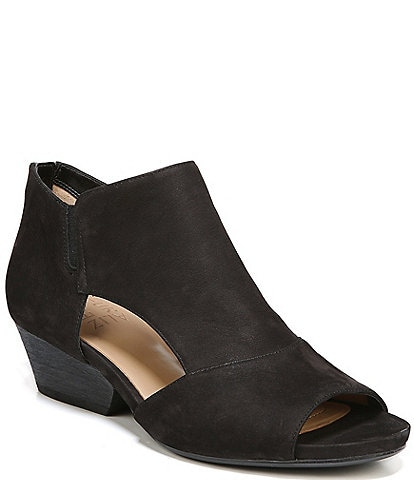 Naturalizer Greyson Peep-Toe Block Heel Ankle Shooties