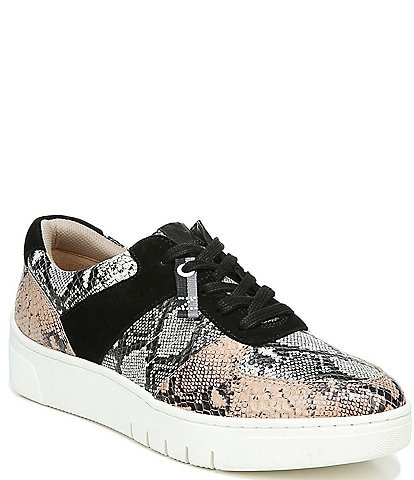 Naturalizer Hadley Snake Print Leather Sneakers