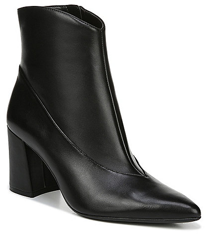 Naturalizer Hart Leather Block Heel Dress Booties