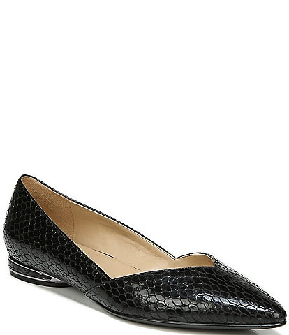 Naturalizer Havana Snake Embossed Dress Flats