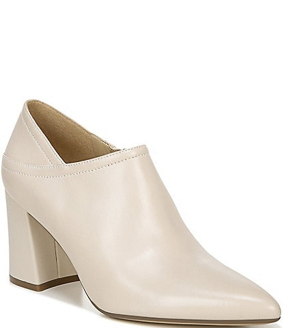 Naturalizer Holliday Leather Block Heel Ankle Shooties