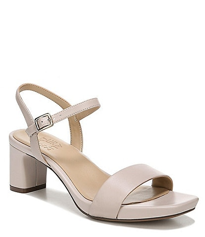 Naturalizer Ivy Leather Block Heel Dress Sandals