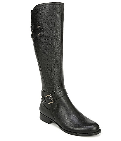 Naturalizer Jackie Tall Leather Block Heel Riding Boots