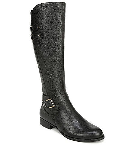 Naturalizer Jackie Wide Calf Tall Leather Riding Boots