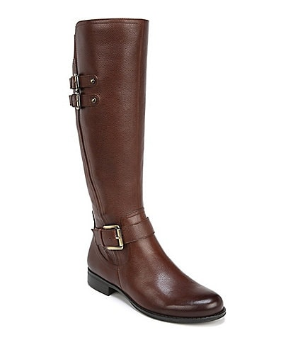 Naturalizer Jessie Tall Leather and Buckle Block Heel Riding Boots