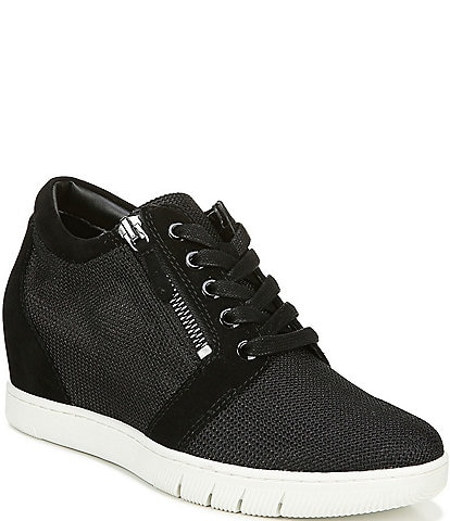Naturalizer Kai Suede and Mesh Wedge Sneakers