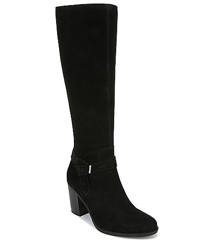 Naturalizer Kamora Wide Calf Suede Tall Block Heel Boots